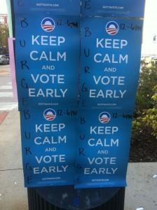 Obama Keep Calm and Vote Early